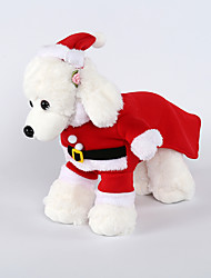 cheap -Dogs Costume Outfits Winter Dog Clothes Red Costume Corgi Beagle Shiba Inu Fleece Solid Colored Christmas Cosplay Christmas XS S M L XL XXL