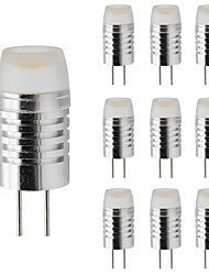 cheap -10pcs 3 W LED Candle Lights LED Corn Lights LED Bi-pin Lights 300 lm G4 T 1 LED Beads High Power LED Dimmable Warm White White 12 V