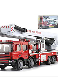 cheap -1:50 Toy Truck Construction Vehicle Fire Engine Plastic Metal Mini Car Vehicles Toys for Party Favor or Kids Birthday Gift