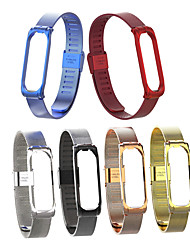 cheap -For Xiaomi Mi Band 3 4 Metal Strap Wristband Stainless Steel Buckle Replacement