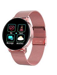 abordables -r5 smartwatch en acier inoxydable bt fitness tracker support informer / mesurer la pression artérielle sports montre intelligente compatible téléphones samsung / iphone / android