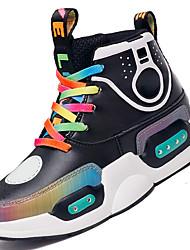 Недорогие -Мальчики / Девочки LED / Обувь с подсветкой Синтетика Кеды Большие дети (7 лет +) LED Черный / Лиловый Осень / Зима