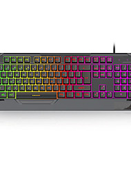 cheap -BacKlit USB Wired LOL Gaming Keyboard Rainbow Illuminous Keys Gamers for Desktop Laptop