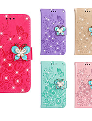 cheap -Case For Apple iPhone 11 / iPhone 11 Pro / iPhone 11 Pro Max Wallet / Card Holder / with Stand Full Body Cases Butterfly / Flower PU Leather