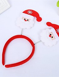 cheap -Santa Claus Holiday Jewelry Kid's Cartoon / Christmas Red Plastics Cosplay Accessories Christmas / Masquerade Costumes / Headwear / Hair Band