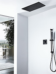 cheap -Shower Faucet - Contemporary Painted Finishes Wall Installation Ceramic Valve Bath Shower Mixer Taps