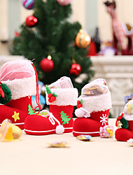 cheap -3 Pcs Candy Boots Merry Christmas Gifts Christmas Decorations For Home