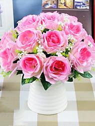 Недорогие -1 шт. Искусственный цветок розы 9 цветов одной ветви розы высококачественный шелковый цветок поддельные цветок украшения дома поддельные цветок