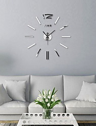 cheap -3D DIY Wall Clock Decor Sticker Mirror Frameless Large DIY Wall Clock Kit for Home Living Room Bedroom Office Decoration