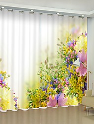 cheap -Garden Landscape Digital Printing 3D Curtain Shading Curtain High Precision Black Silk Fabric High Quality Curtain