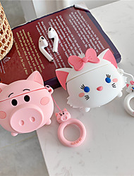 cheap -Earphone Cases for AirPods Case 3D Cute Cat Pig Cartoon for Apple Air Pods Protect Cover for Earpods Earbuds Case Ring Strap
