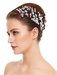 Недорогие -Хрусталь / Стразы Заколка для волос с Стразы / Кристаллы 3 предмета Свадьба Заставка