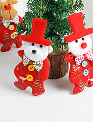 cheap -4PCS Christmas Hang Pendant Ornaments Gift Santa Claus Snowman Bear Elk Tree Toy Doll Hang Decorations Best Gift