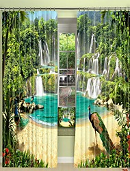 cheap -Waterfall Digital Printing 3D Curtain Shading Curtain High Precision Black Silk High Quality Curtain