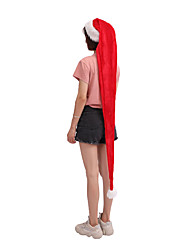 cheap -Adult 1.5 Meters Long Christmas Hat Adult Plush Christmas Prop Gifts Holiday Cap Christmas Decorations For Home