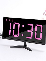 cheap -LED Digital Alarm Clock, Easy Snooze Function, Diming Mode, Mirror Surface, Dual USB Charging Ports for Bedroom, Living Room, Office, Travel