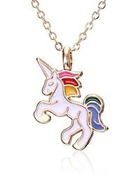 cheap -Pendant Necklace Women's Gold Plated Unicorn Heart Classic Cute White Black Red Blue Pink Gold 40-50 cm Necklace Jewelry 1pc for Daily