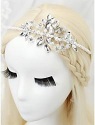 cheap -Crystal / Imitation Pearl / Rhinestone Headbands with Imitation Pearl / Crystal / Rhinestone / Paillette 1 Piece Wedding Headpiece