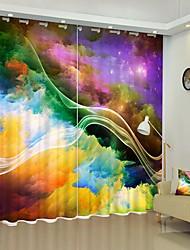 cheap -Simple Star Decoration Digital Printing 3D Curtain Shading Curtain High Precision Black Silk Fabric High Quality Curtain