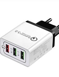 cheap -Fast Charger / Portable Charger USB Charger EU Plug QC 3.0 1 USB Port 3.5 A 100~240 V for Universal