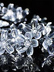 cheap -10m Cherry Blossoms String Lights 100 LEDs 1Set Mounting Bracket Warm White / RGB / White /Blue / Waterproof / Solar / Outdoor Night Light / Cute Solar Powered 1 set