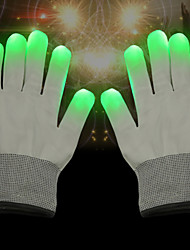cheap -LED Lighting LED Gloves Finger Lights Creative Hand Glow Dancing Polyester / Cotton Blend Adults' All Toy Gift 2 pcs