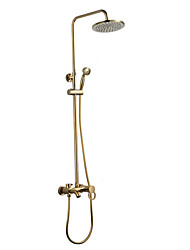 cheap -Shower Faucet -Beautiful Contemporary Wall Mounted Ceramic Valve Bath Shower Mixer Taps