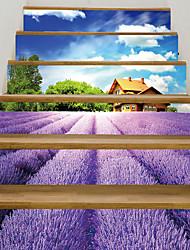 Недорогие -наклейки на лавандовые лестницы - декоративные настенные наклейки пейзаж / цветочные / ботанические гостиная / спальня / кухня