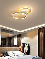 cheap -1-Light 35 cm Creative / Dimmable / LED Flush Mount Lights Aluminum Acrylic Circle / Geometrical Painted Finishes LED / Nordic Style 110-120V / 220-240V / FCC