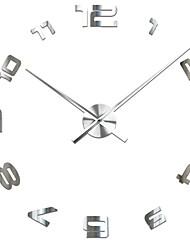 Недорогие -3d diy настенные часы декор стикер зеркало безрамное большой diy настенные часы комплект для дома гостиная спальня офис украшения