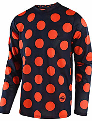 cheap -21Grams Men's Long Sleeve Cycling Jersey Dirt Bike Jersey Black / Red Green / Black Purple Bike Jersey Motorcyle Clothing Top Mountain Bike MTB Road Bike Cycling UV Resistant Breathable Quick Dry