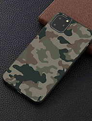 cheap -Case For Apple iPhone 11 / 11 Pro / 11 Pro Max Frosted / Pattern Back Cover Camouflage TPU for iPhone 6 / 6S Plus / 7 / 7 Plus / 8 / 8 Plus / X / XS / XR / Xs Max