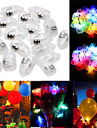 cheap -50pcs Mini Glowing Balloon Light Decoration Light Staycation LED Night Light RGB White Red Other Battery Powered Creative Lovely Wedding Christmas New Year