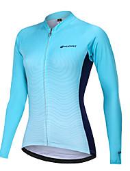 cheap -Nuckily Women's Cycling Jersey Bike Motorcyle Clothing Winter Fleece Jersey Warm Sports Gradient Fleece Elastane Winter Sky Blue Mountain Bike MTB Clothing Apparel Regular Fit Bike Wear
