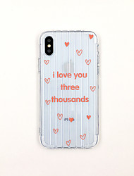 cheap -Case For Apple iPhone XS / iPhone XR / iPhone XS Max Ultra-thin / Transparent / Pattern Back Cover Word / Phrase / Transparent TPU