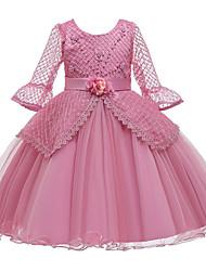 cheap -Kids Girls' Solid Colored Dress Purple