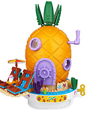 cheap -1 pcs Pineapple Jigsaw Puzzle Cute Geometric Pattern Parent-Child Interaction Plastic Shell Child's Teen Toy Gift