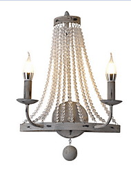 cheap -2-Light 32 cm Candle Style Chandelier Metal Painted Finishes Traditional / Classic Country 220-240V