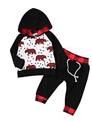 cheap -Baby Boys' Active / Basic Fantastic Beasts Print Patchwork Long Sleeve Regular Regular Clothing Set Black