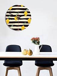 Недорогие -м. игристые настенные часы деревянные круглые липы уникальный подарок 3d часы настенные фрукты мода 11 дюймов