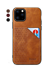 cheap -Case For Apple iPhone 11 / iPhone 11 Pro / iPhone 11 Pro Max Card Holder / Ultra-thin Back Cover Solid Colored PU Leather / TPU