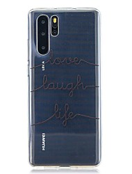cheap -Case For Huawei P30 / Huawei P30 Pro / Huawei P30 Lite Pattern Back Cover Text Line TPU for Huawei Y6(2019) / Y7(2019)