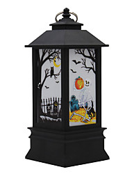 cheap -Halloween New LED Glowing Pumpkin Light Witch Light Decoration Props Desktop Decoration Children Gift 1 PC
