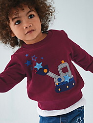 cheap -Toddler Boys' Basic Print Long Sleeve Hoodie & Sweatshirt Wine