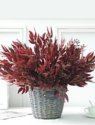 abordables -plante de simulation maison bouquet de saule en osier faux fleur plante verte