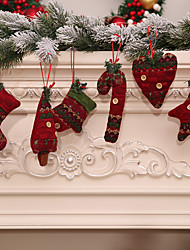 cheap -6pcs Christmas Decoration Gifts  Tree Ornament Home Party