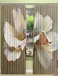 cheap -Oil Painting Flower Environmental Protection Digital Printing 3D Curtain Shading Curtain High Precision Black Silk Fabric High Quality Curtain