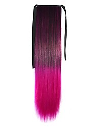 cheap -Drawstring Gifts / Ombre Hair Weaves / Hair Bulk / Extension Women / Afro Ponytail / 100% kanekalon hair Synthetic Hair Hair Piece Hair Extension Straight 22 inch Christmas Gifts / Daily Wear