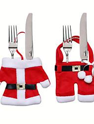 cheap -Christmas Table Decoration Christmas Knife And Fork Set Christmas Dress Pants Christmas Cutlery Set