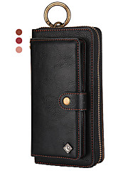 cheap -Leather Case For iPhone 11 Pro Max XR XS Max 8 Plus 7 Plus 6 Plus Pola Brand Multifunction Wallet Genuine Leather Shockproof Solid Colored Cases